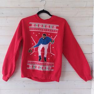 """GILDAN """"DRAKE"""" Hotline Bling chistmas sweater"""